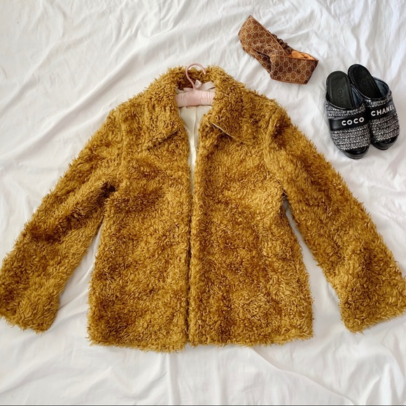 Vintage Jackets & Blazers - Vintage Vegan Teddy Bear Oversized Coat Jacket